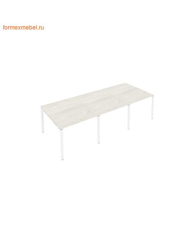 Стол для совещаний Б.ПРГ-3.1 (3 столешницы) дуб наварра/белый металл (фото)