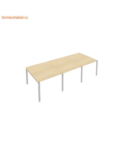 Стол для совещаний Б.ПРГ-3.1 (3 столешницы) акация/серый металл (фото)
