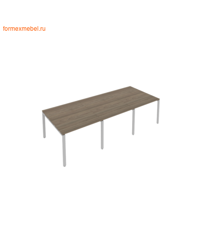 Стол для совещаний Б.ПРГ-3.1 (3 столешницы) вяз благородный/серый металл (фото)