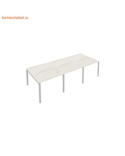 Стол для совещаний Б.ПРГ-3.1 (3 столешницы) дуб наварра/серый металл (фото)