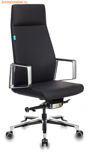 Кресло руководителя Бюрократ JONS кожа черная (фото)