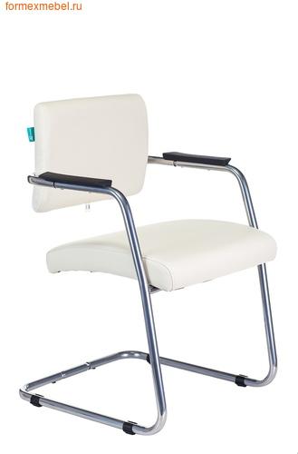 """Кресло для посетителей офисное Бюрократ CH-271N-V/SL CH-271-V, SL, OR-10, """"молочная"""" экокожа  (фото)"""