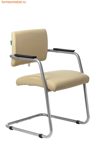 Кресло для посетителей офисное Бюрократ CH-271N-V/SL CH-271-V, SL, OR-12, светло-бежевая экокожа (фото)