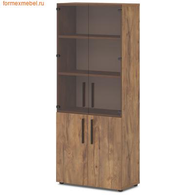 Шкаф для документов со стеклом Lavana T-674 таксония медовая (фото)