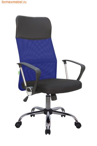 Компьютерное кресло Рива RCH 8074 черное сиденье-синяя  спинка-черный подголовник (фото)
