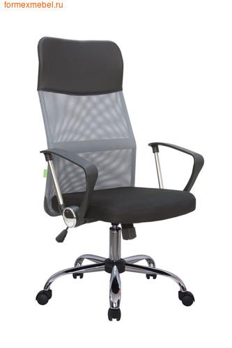 Компьютерное кресло Рива RCH 8074 черное сиденье- серая  спинка-черный подголовник (фото)