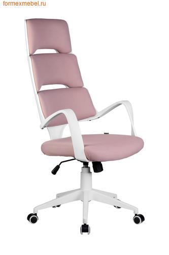 Компьютерное кресло Рива Sakura белый пластик розовая ткань (фото)