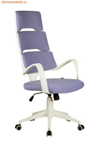 Компьютерное кресло Рива Sakura белый пластик лиловая ткань (фото)