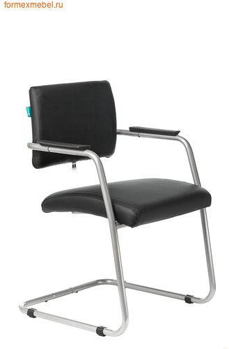 Кресло для посетителей офисное Бюрократ CH-271N-V/SL CH-271N-V, SL, BLACK черная иск. кожа (фото)