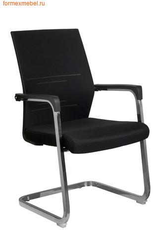 Кресло для посетителей офисное Рива D818 ткань черная (фото)