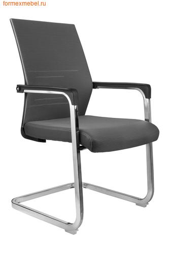 Кресло для посетителей офисное Рива D818 серая ткань (фото)