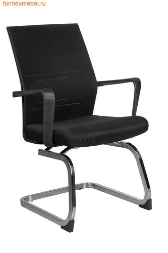 Кресло для посетителей офисное Рива G818 черная ткань (фото)