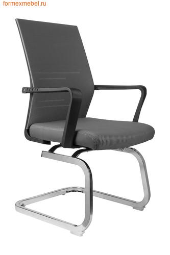 Кресло для посетителей офисное Рива G818 серая ткань (фото)