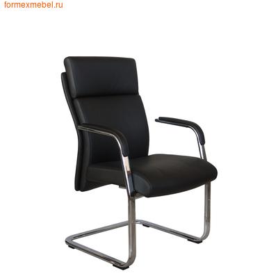 Кресло для посетителей офисное Рива C1511 черная кожа (фото)