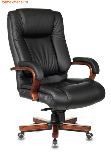 Кресло руководителя Бюрократ T-9925 Walnut Black черное (фото)
