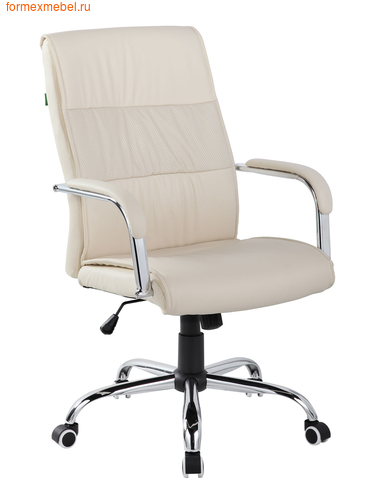 Кресло руководителя Рива RCH 9249-1 бежевое (фото)
