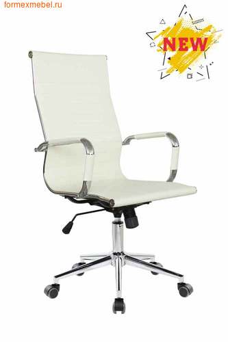 Компьютерное кресло Рива RCH 6002-1SE белое (фото)
