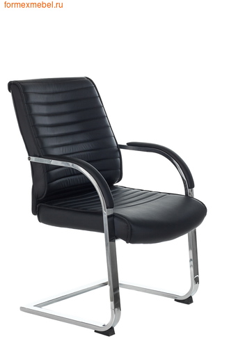 Кресло для посетителей офисное Бюрократ T-8010N-Low-V T-8010N-Low-V/Black черное (фото)