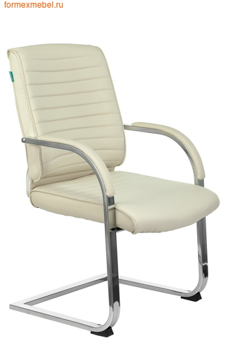Кресло для посетителей офисное Бюрократ T-8010N-Low-V T-8010N-Low-V/ivory  бежевое (фото)