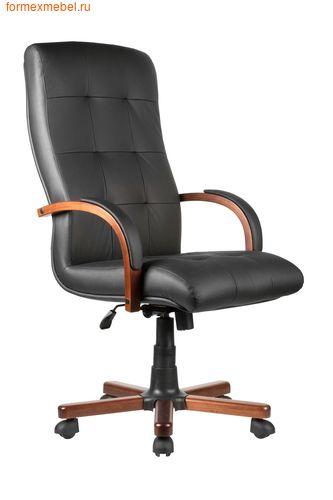 Кресло руководителя Рива M 165 A черное кожа черная (фото)