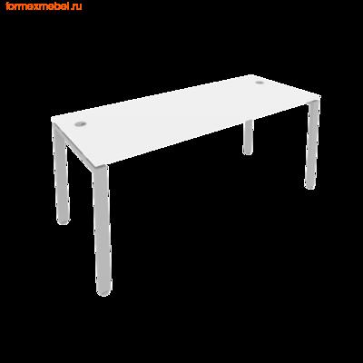 Стол рабочий Рива Б.СП-5 180 см белая/ серый  металл (фото)