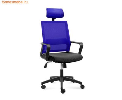 Компьютерное кресло NORDEN БИТ Бит  спинка синяя (фото)