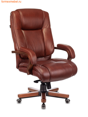 Кресло руководителя Бюрократ T-9925 Walnut Black коричневое (фото)
