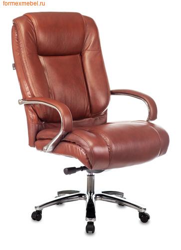 Кресло руководителя Бюрократ T-9925SL кожа светло-коричневая (фото)