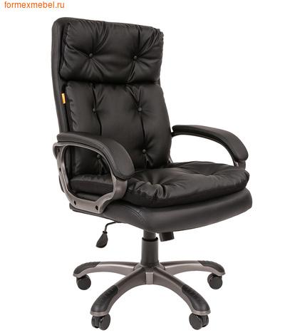 Кресло руководителя Chairman CH-442 экокожа черная (фото)