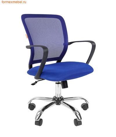 Компьютерное кресло Chairman CH-698 Chrome синее  (фото)