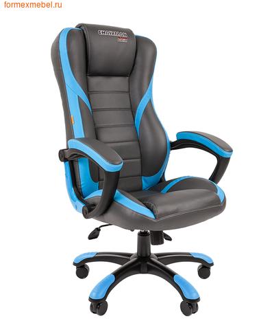Компьютерное игровое кресло Chairman Game 22 серо-голубое (фото)