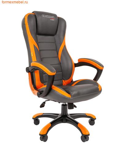 Компьютерное игровое кресло Chairman Game 22 серое с оранжевым (фото)