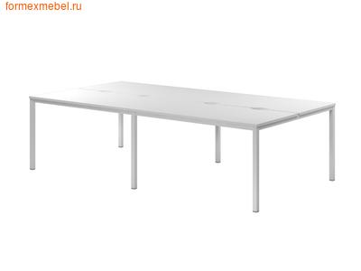 Бэнч-система столов ЭКСПРО CL-51 на металлокаркасе белый (фото)