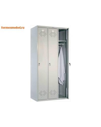 Шкаф металлический для одежды трехсекционный Практик LS-31