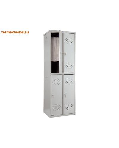 Шкаф для одежды металлический четырехсекционный ПРАКТИК LS-22
