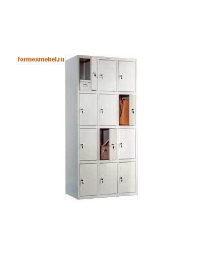 Шкаф для одежды металлический 12-секционный ПРАКТИК LS-34
