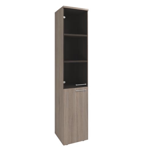 Шкаф для документов KB209п/KB210 лев, шкаф узкий со стеклом правый/левый