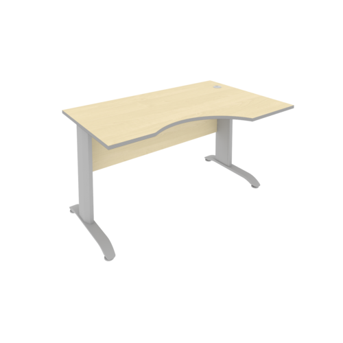 Стол рабочий эргономичный ПЛ.СА-2 Пр 140 см