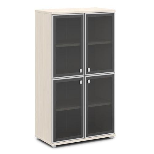 Шкаф для документов ЭКСПРО V-669 средний со стеклом