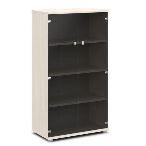 Шкаф для документов ЭКСПРО V-667 средний со стеклом