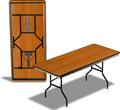 Стол складной прямоугольный РТД